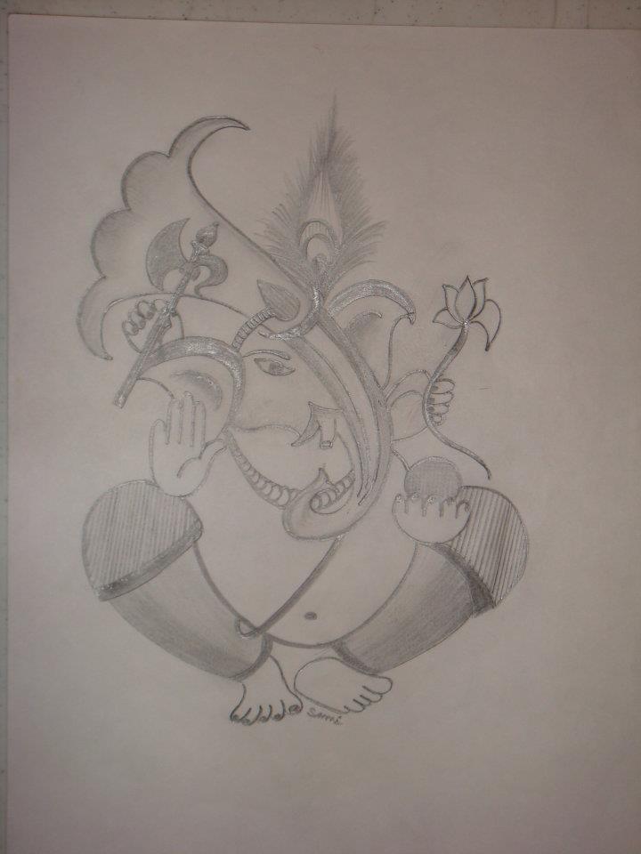 God Ganesha Sketches images