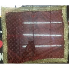 Red Transparent Cloth with Golden Dots