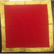 Red Cloth with Golden Border