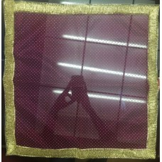 Purple Transparent Cloth with Golden Dots